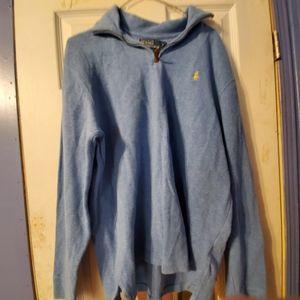 Polo Ralph Lauren Blue Half Zip Sweater Shirt